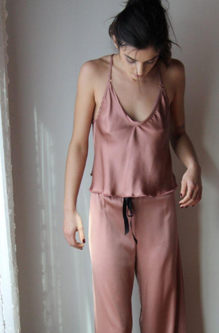 'Alice' #Silk Pajama Set | Etsy