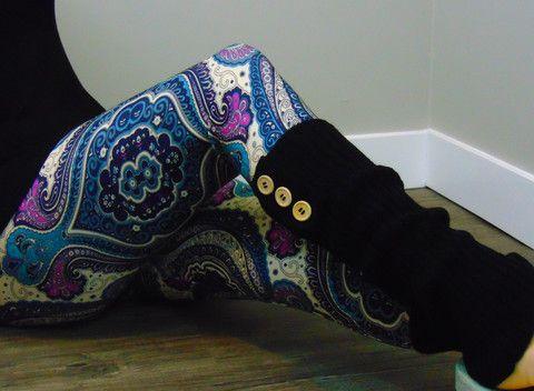 Purple Gypsy Print Leggings - Microfiber