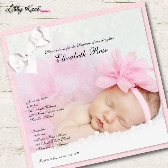 Photo Baptism Invitation Photo Christening Invitation by LibbyKateSmiles on Etsy https://www.etsy.com/listing/156224337/photo-baptism-invitation-photo