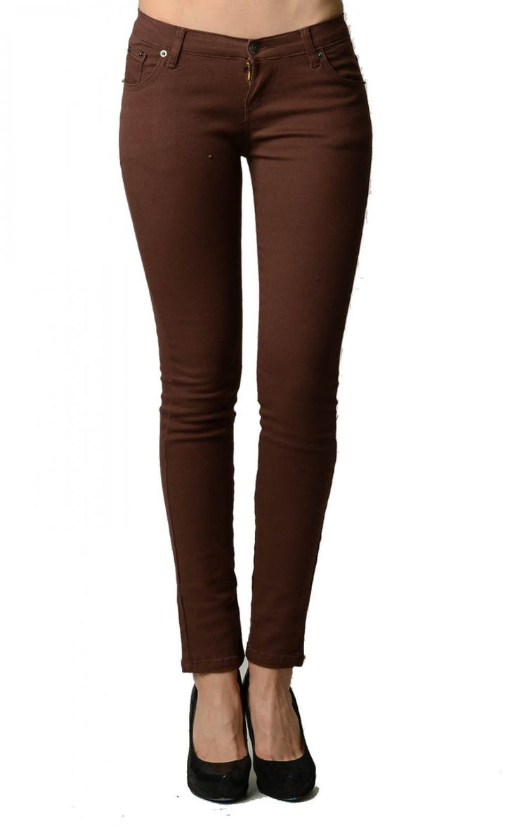 Dark brown skinny jeans ladies