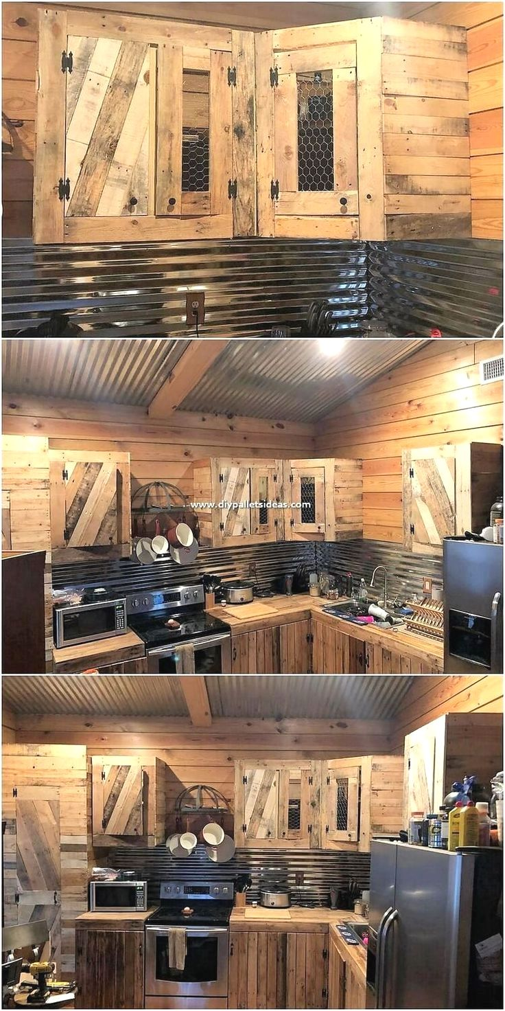 New Kitchen Pallet Diy Projects In 2020 Pallet Kitchen Cabinets Diy Kitchen Pallet Kitchen