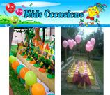 Kids Occasions - Gauteng, specializes in party décor and arrangements to make your party unique. Parents who prefer to have their special little persons party at their Child's school, can be assured we will set up and or deliver so they don't have to do the last minute running around. This can be from Party buckets or boxes and cakes/cup cakes to full set up for the class to make it special.