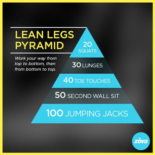 Looking to get leaner legs? Try this ZOVA pyramid workout!