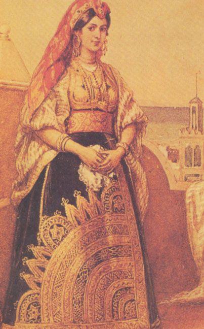 a jewish bride in a traditional sphardi bridal dress c