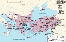 Empire à la mort de Basile II en 1025- Empire byzantin — Wikipédia