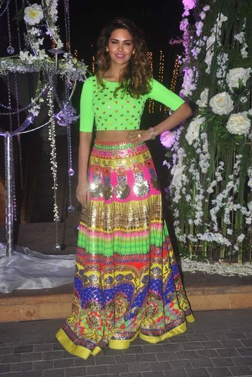 If you are of the bold type don't shy away from sporting a sparkling ensemble full of neon and silver,a welcome change from the dullness of monsoon,what say ??
