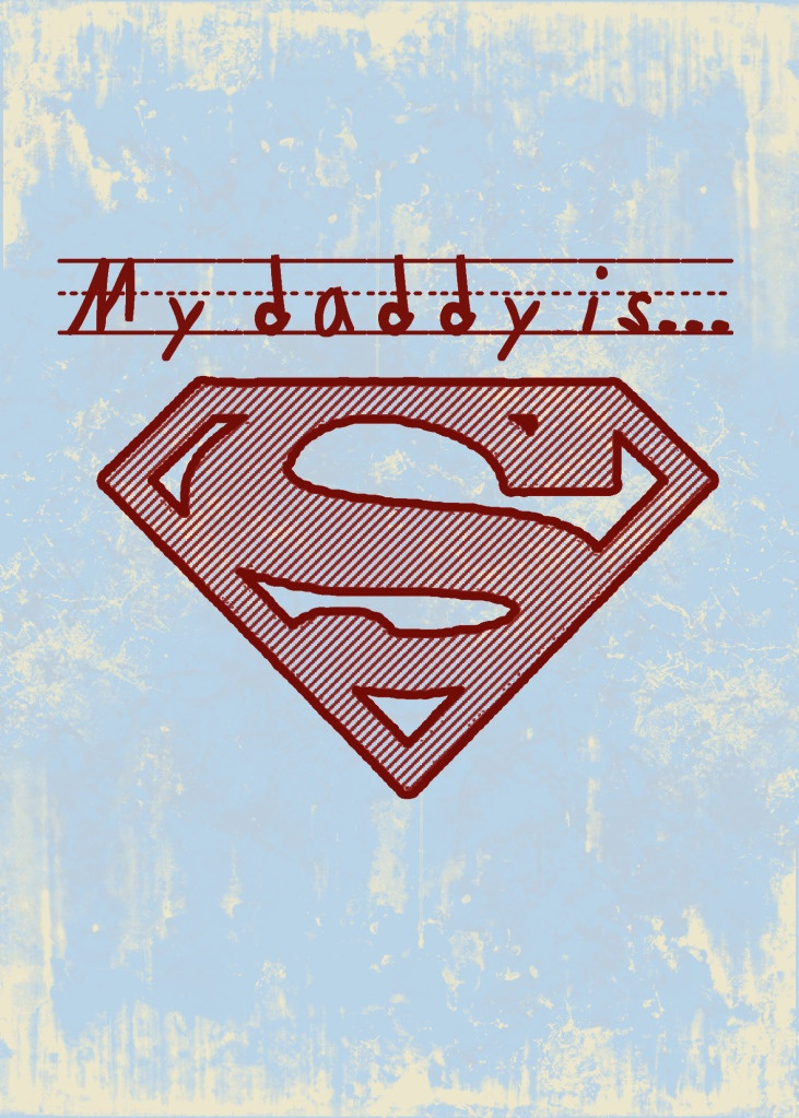 you need this on a shirt....you always pretended to be superman when you were little... so perfect
