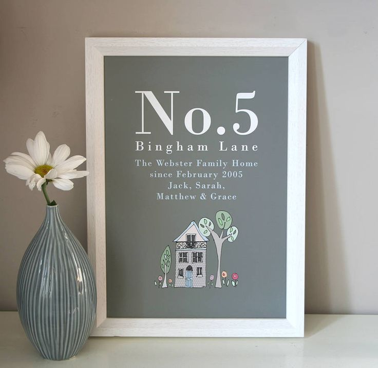 personalised family home print by molly moo designs | notonthehighstreet.com