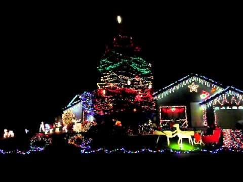 Star Wars Christmas Light show!