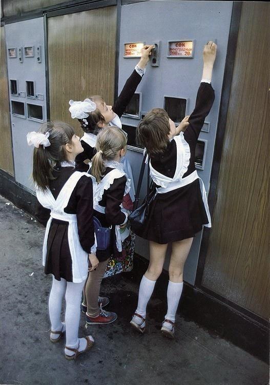 Russian school uniform, 1980s. #education