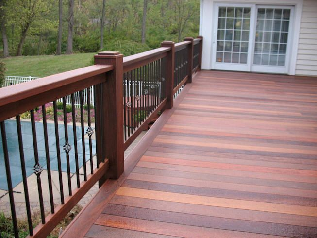 Best 25 Wood Deck Railing Ideas On Pinterest Deck