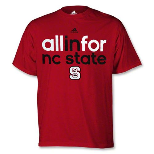 NC State Wolfpack adidas® Red Football Sideline 2014 All In For NC State T-