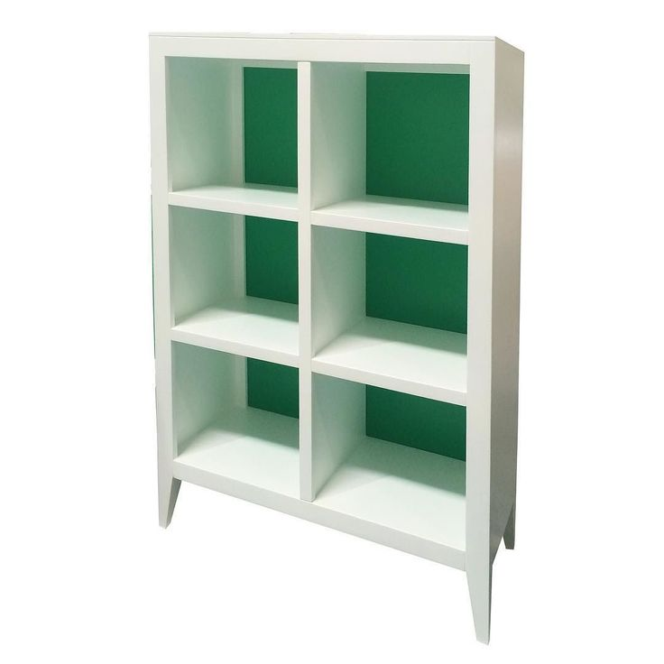 Devon Bookcase In Kelly Green By Newport Cottages
