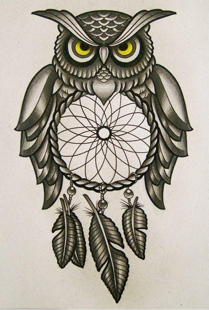Owl dreamcatcher drawing - photo#35