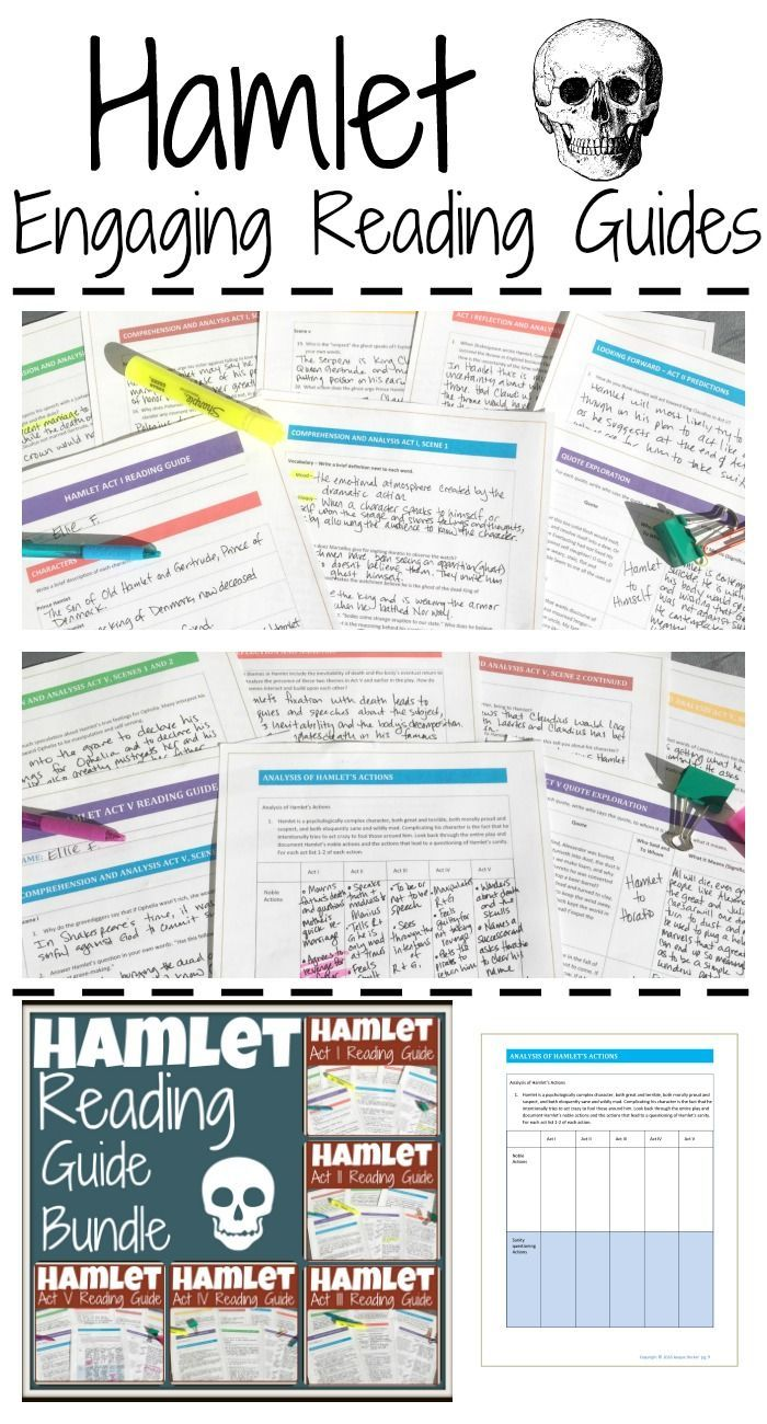 702 best literature images on pinterest teaching ideas high hamlet reading guide bundle fandeluxe Images