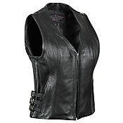 STREET & STEEL - Women's Dark Star Leather Motorcycle Vest - Leather - Biker - Vests - Women's - Cycle Gear