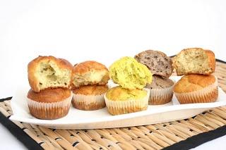 muffin salati: al parmigiano, al gorgonzola pere e noci, zucchine ricotta e zafferano