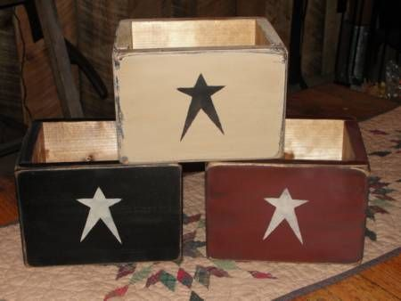 Primitive Star Wood Box