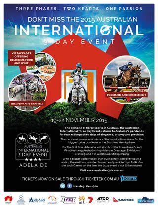 2015 Australian 3 Day Event Flyer