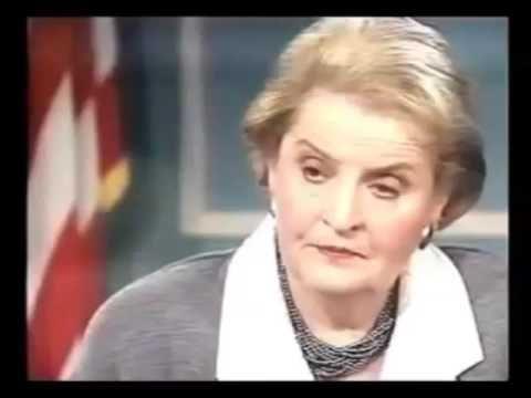 Madeleine Albright - Smrť 500 000 detí bola správna voľba za vojnu v Iraku