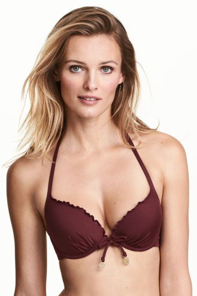 Top de bikini push-up - Burdeos - MUJER | H&M ES 1