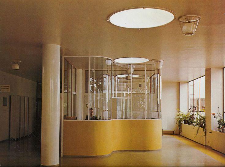 Alvar Aalto Paimio sanatorium lobby 1933