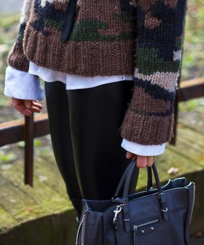 army tough, ombre soft I Aritzia leatherette leggings I sweater by NLST I Isabel Marant Grover booties I Balenciaga Mini Papier bag I #streetstyle #point41