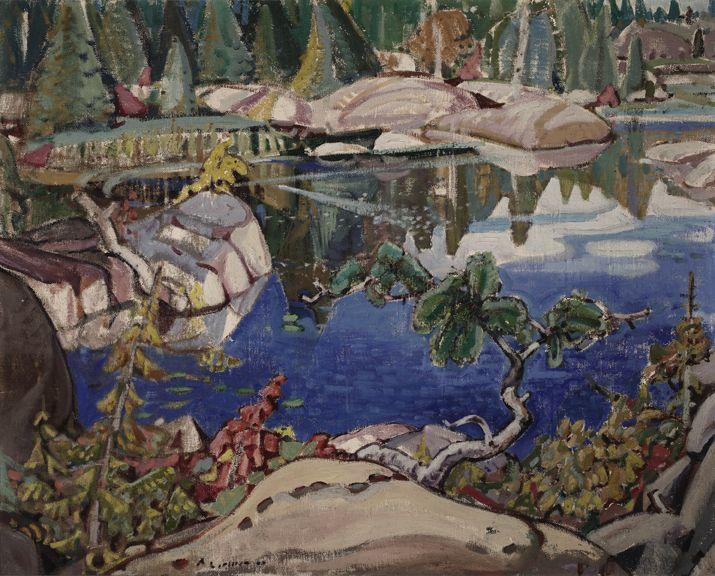 """""""Little Cove, Georgian Bay,""""  Arthur Lismer, 1929, oil, 32 x 40"""", Robert McLaughlin Gallery."""