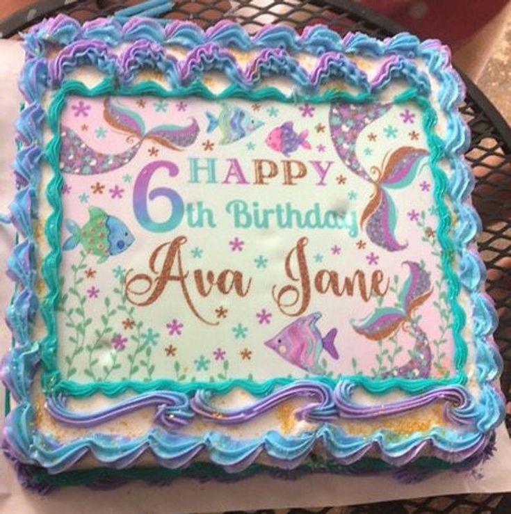 walmart mermaid sheet cake