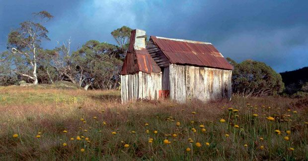 Boltons Hut is a small hut located near the Finn River below Disappointment Spur. (Credit: Garry McDougall)