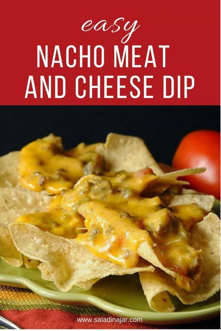 Easy Nacho Meat And Cheese Dip Recipe With Images Easy Nachos Appetizer Recipes Easy Nacho Cheese