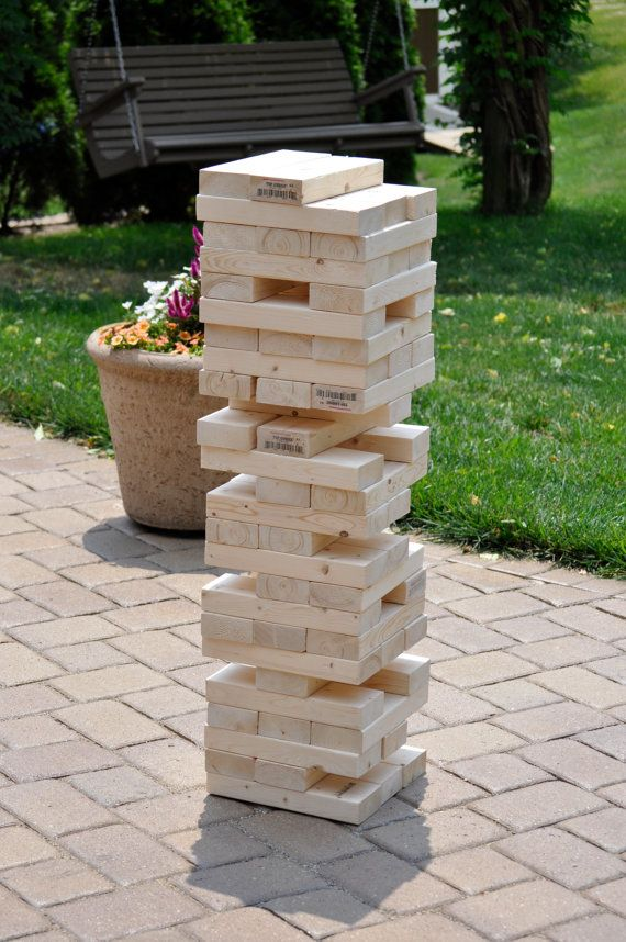 Giant Tumbling Wood Block Game by CozyEarbuds on Etsy