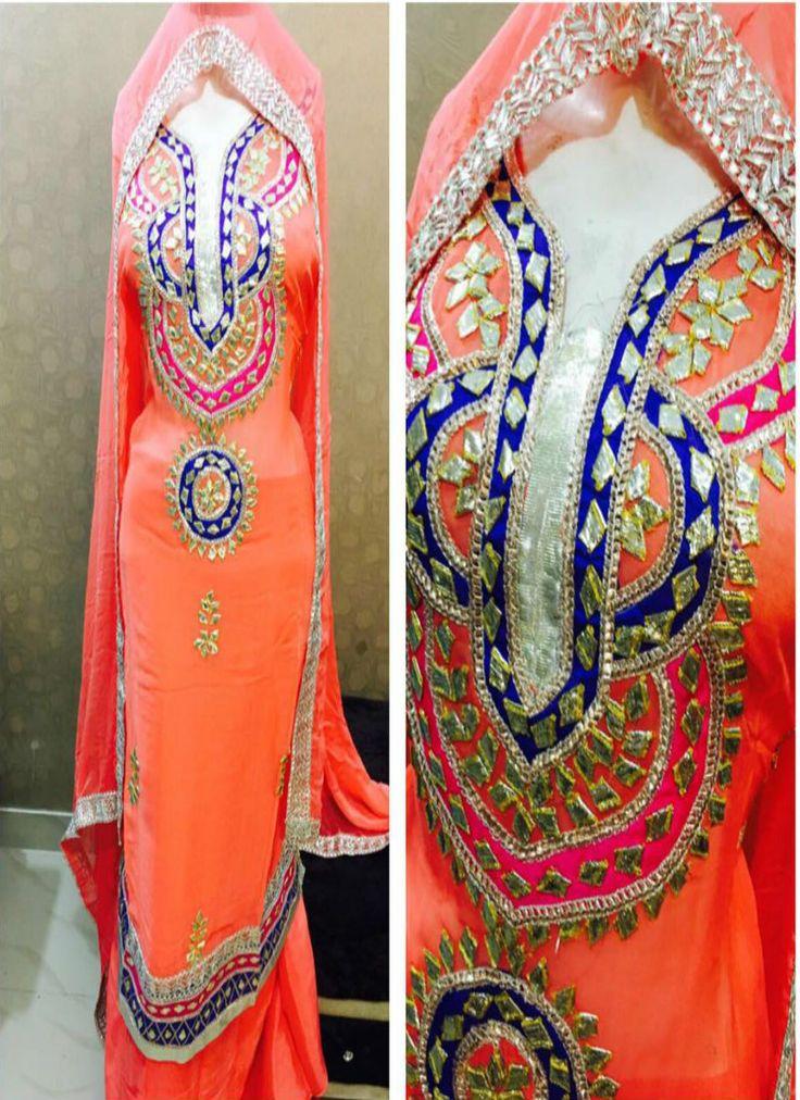 Georgette Gotta Patti Designer Punjabi Suits