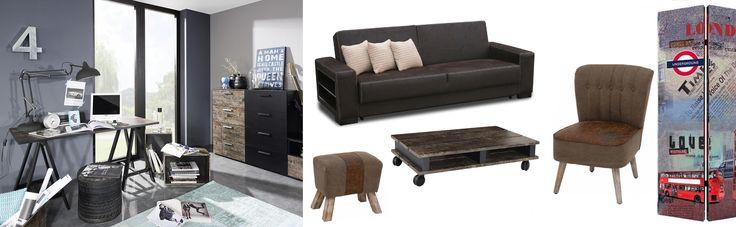 Tento štýl sa vyznačuje predovšetkým kombináciou dreva a kovu. Z farieb dominujú  tmavé tóny.. Preneste kúzlo starých tovární a dielní do svojho domova. Inšpirujte sa v SCONTO Nábytku!