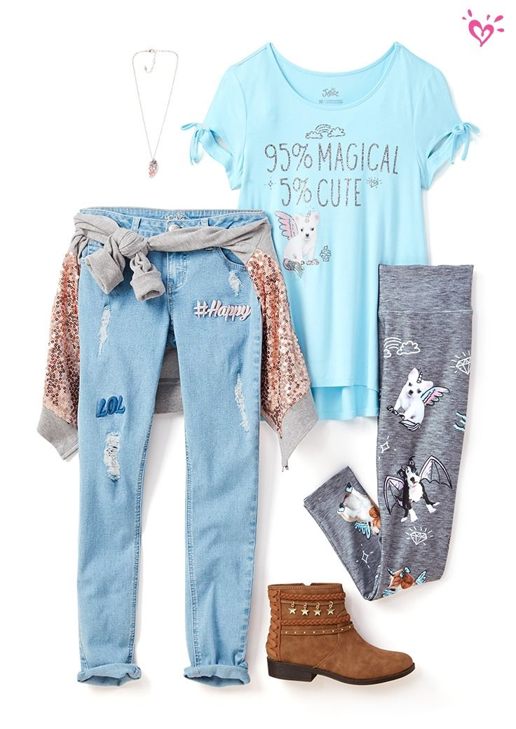 Make every outfit magical with flying critters and lots of shimmer.