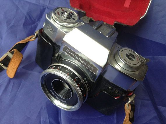 SOLD 1967 Zeiss Ikon Contaflex SLR Camera in Fitted Hard Leather Case on Etsy, £57.00