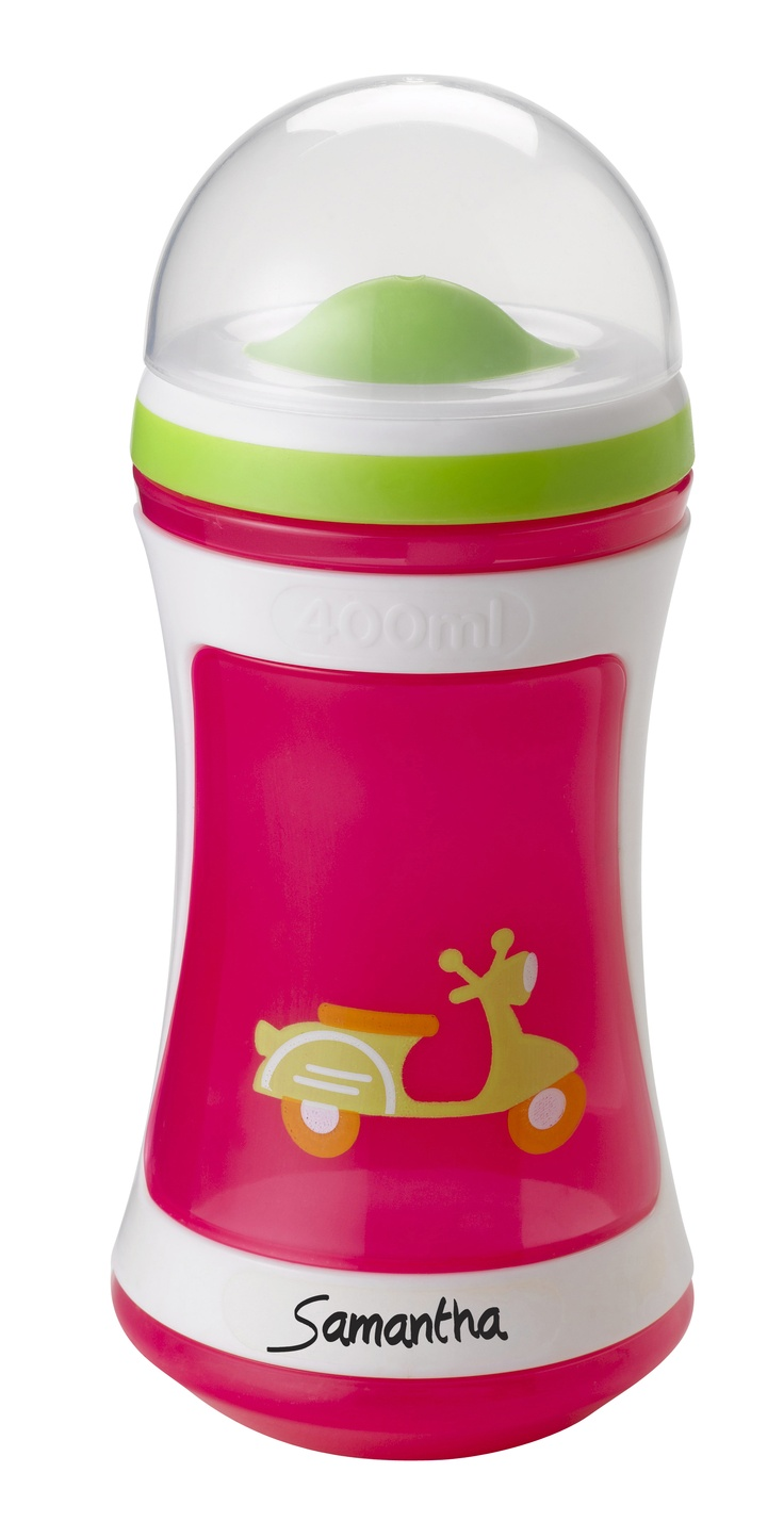 Tommee Tippee® discovera® Two-Stage Drinker 24m+ #sippycup #tommeetippeeau #discovera #cutecup #samantha #toddler #pink #scooter #vroom