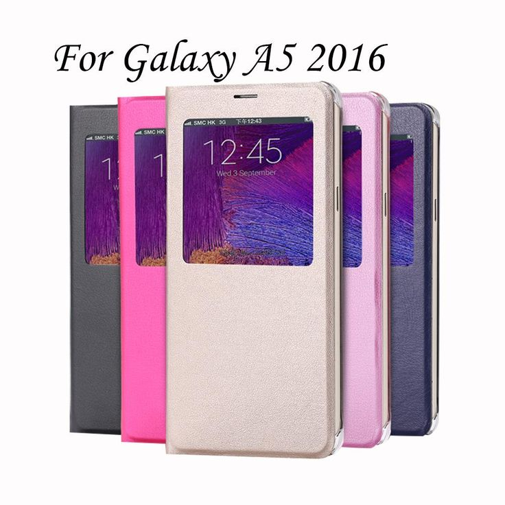 Wholesale For Samsung Galaxy A5 2016 Case With Window View PU Leather Folio Flip Cover For A510F A5100 Coque Funda Capinhas