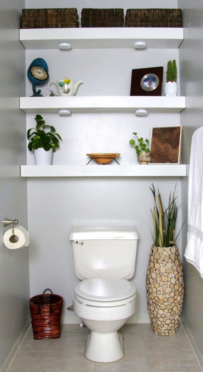 How To Build Diy Floating Shelves Shelves Above Toilet