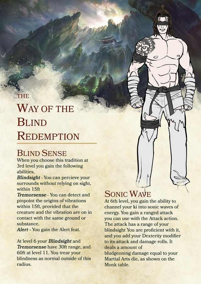 Final revision  Monk subclass thanks for the feedback