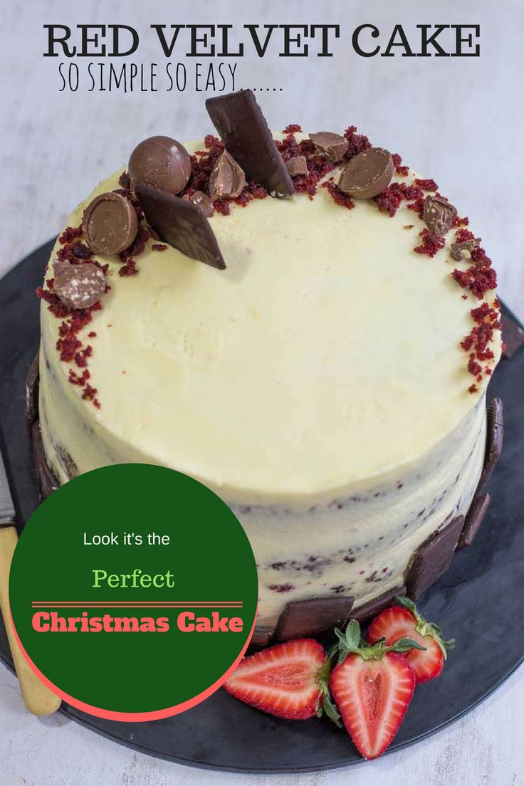 The simplest red Velvet cake and it makes a great Christmas cake. Get the recipe and watch the video