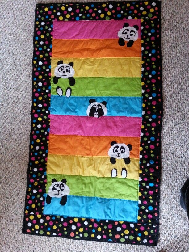 61 best panda quilts images on pinterest fabric books felt books panda bear baby quilt fandeluxe Choice Image