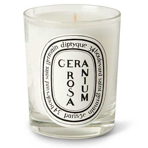 Love geranium ~ DIPTYQUE Geranium Rosa scented candle