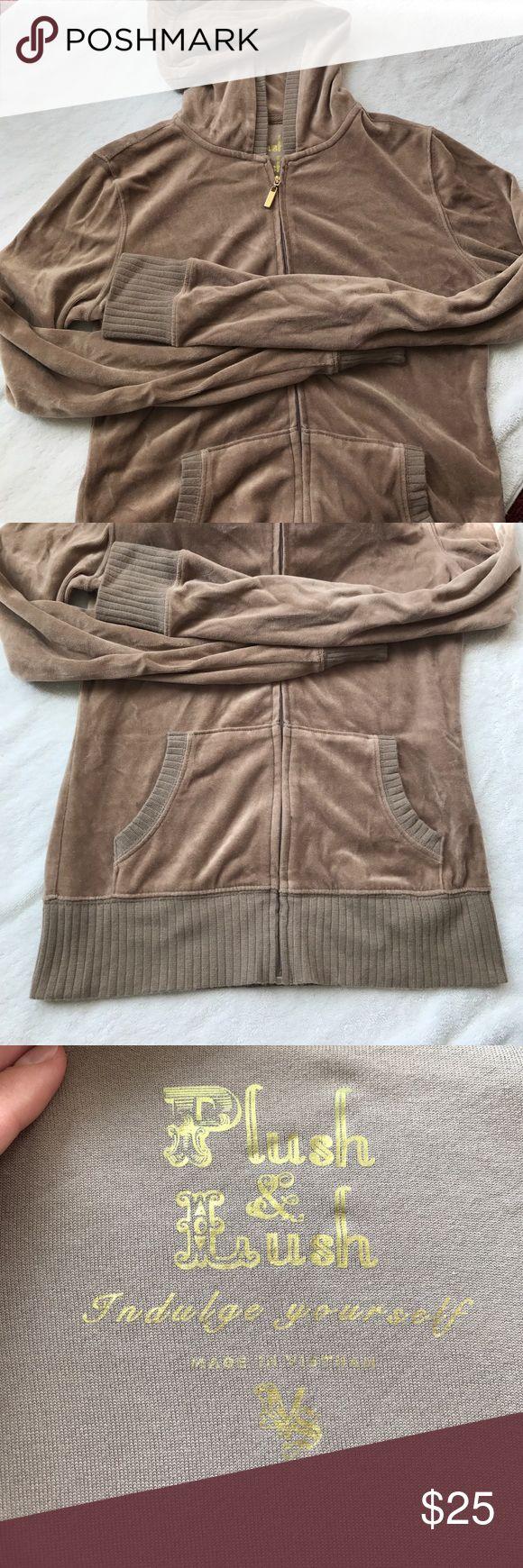 Taupe Velour Jacket Hooded Velour Jacket- Victoria's Secret Victoria's Secret Jackets & Coats