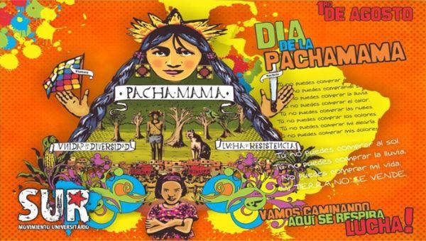 Pueblos aborígenes celebran el día de la Pachamama.