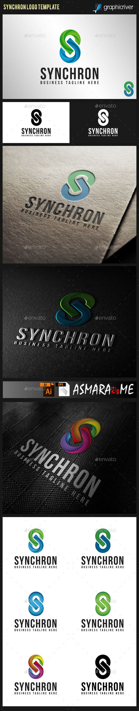 Synchron  Stylish Letter S Logo — Vector EPS #app #web • Available here → https://graphicriver.net/item/synchron-stylish-letter-s-logo/9801346?ref=pxcr