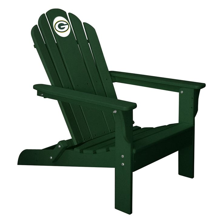 Green Bay Packers Folding Composite Adirondack Patio Chair In Green