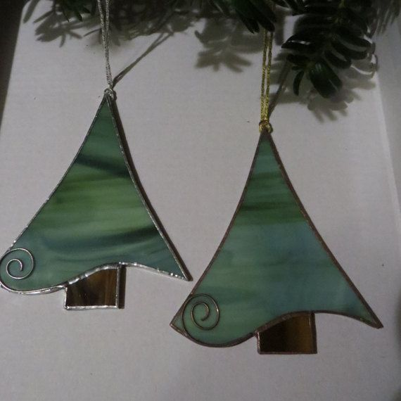 Stained glass christmas ornaments christmas tree