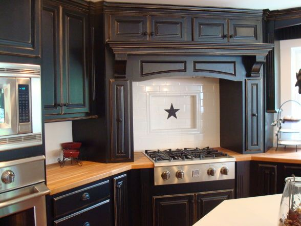 Dark Cherry Wood Kitchen Cabinet Stains with Kitchen Colors With Dark