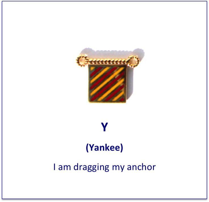Y (Yankee) signal flag charm